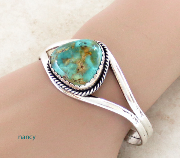 Turquoise & Sterling Silver Bracelet Native American - 2795rio