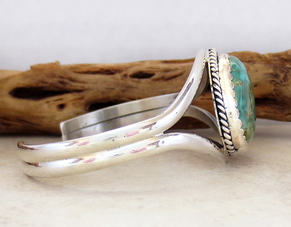 Image 2 of   Turquoise & Sterling Silver Bracelet Native American - 2795rio