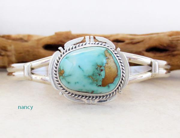 Royston Turquoise & Sterling Silver Bracelet John Nelson Navajo - 3165sn -