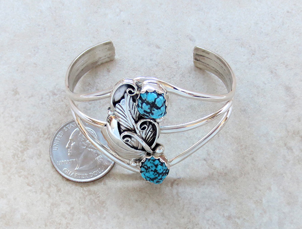Image 4 of  Turquoise Nugget & Sterling Silver Bracelet Navajo Made - 3172rio