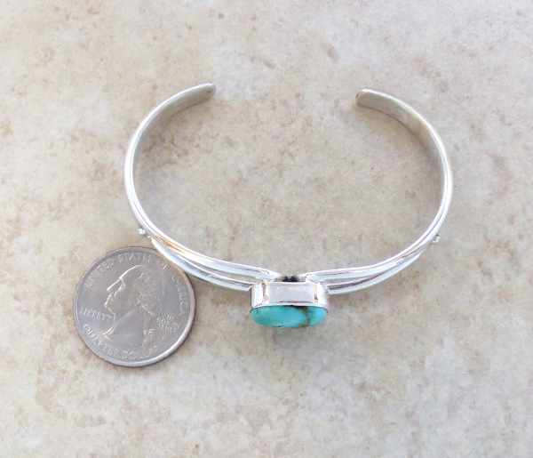 Image 4 of    Royston Turquoise & Sterling Silver Bracelet Freddy Charlie - 2075sn