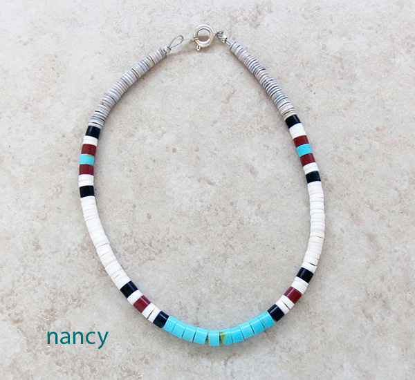 Turquoise Heishi Ankle Bracelet Santo Domingo - 3429rio