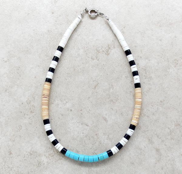 Turquoise Heishi Ankle Bracelet Santo Domingo Kewa - 3439rio
