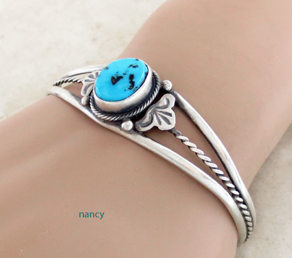 Image 0 of  Turquoise & Sterling Silver Bracelet Dean Sandoval Navajo - 2586rio