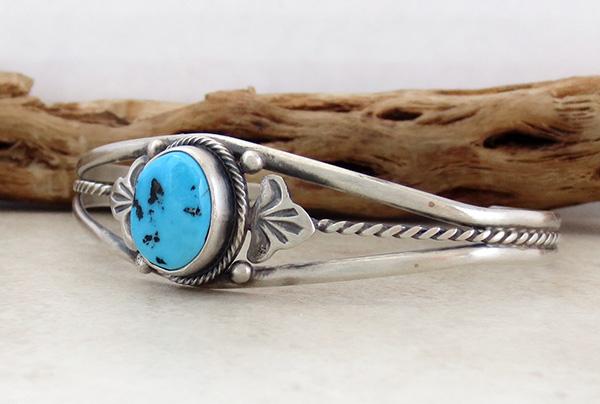 Image 3 of  Turquoise & Sterling Silver Bracelet Dean Sandoval Navajo - 2586rio