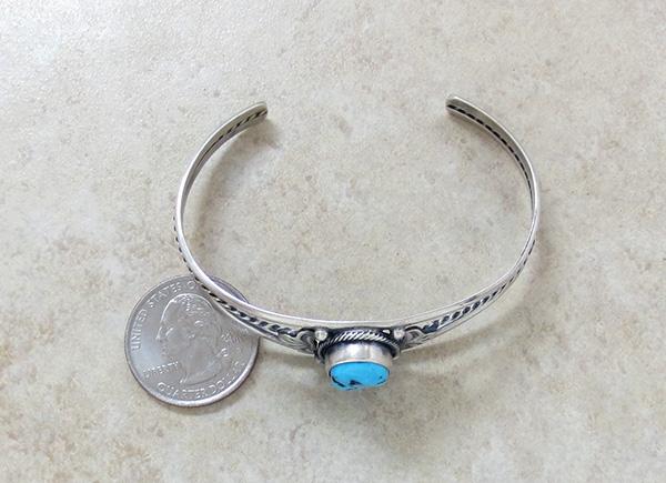 Image 4 of  Turquoise & Sterling Silver Bracelet Dean Sandoval Navajo - 2586rio