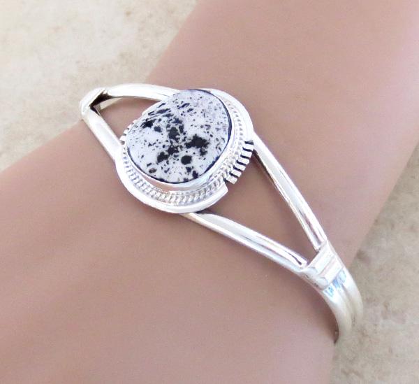 White Buffalo Stone & Sterling Silver Bracelet Larson Lee - 3228sn