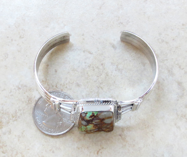 Image 4 of  Native American Jewelry Turquoise & Sterling Silver Bracelet - 3447sn