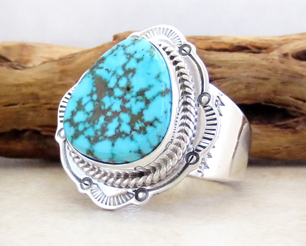 Image 2 of     Native American Turquoise & Sterling Silver Ring Size 10.5 - 3285sn