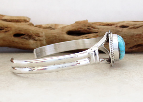 Image 2 of         Turquoise & Sterling Silver Bracelet Native American Jewelry - 3536sn