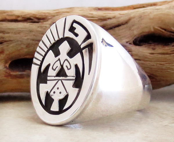 Image 2 of   Sterling Silver Overlay Turtle Ring Size 10.75 Navajo Jewelry - 3603rb