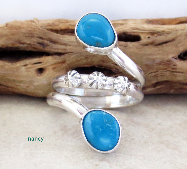 Image 0 of    Turquoise & sterling Silver Ring Size 9 Navajo Made Jewelry - 3553rb