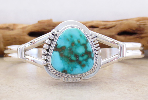 Turquoise & Sterling Silver Bracelet Native American Jewelry - 2593sn