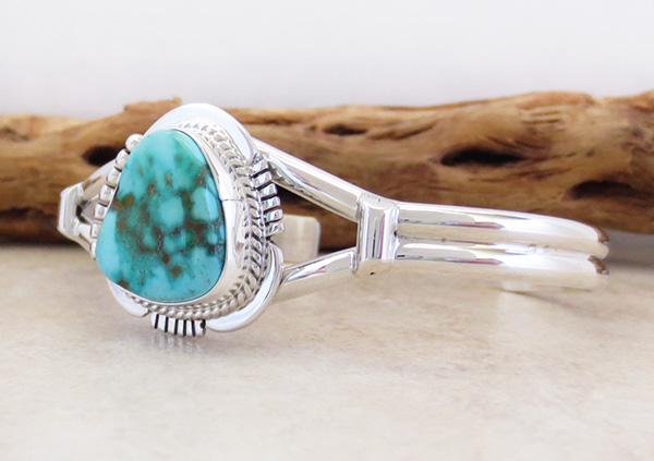 Image 3 of     Turquoise & Sterling Silver Bracelet Native American Jewelry - 2593sn