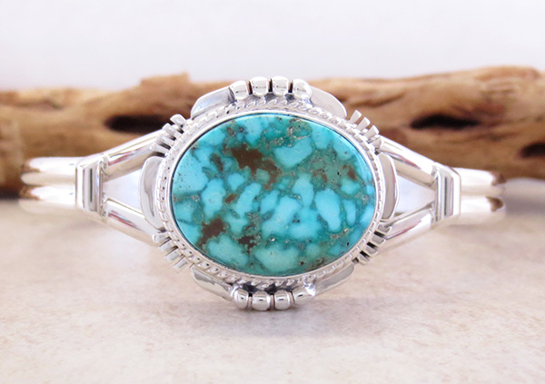 Image 0 of     Turquoise Mountain Turquoise & Sterling Silver Bracelet John Nelson - 3289sn