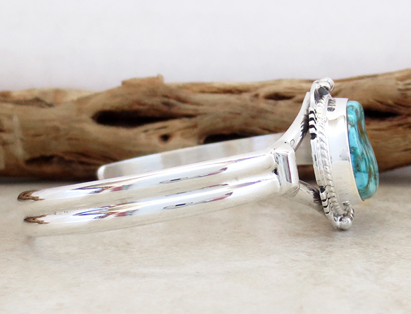 Image 2 of     Turquoise Mountain Turquoise & Sterling Silver Bracelet John Nelson - 3289sn