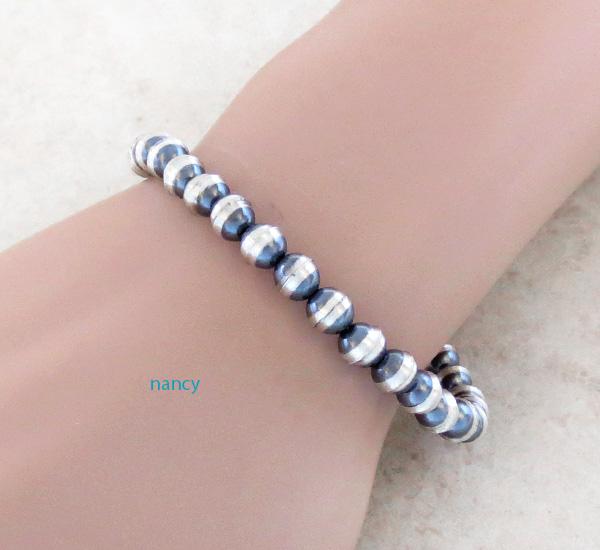 Sterling Silver Desert Pearls Bracelet Navajo Made - 3705rio