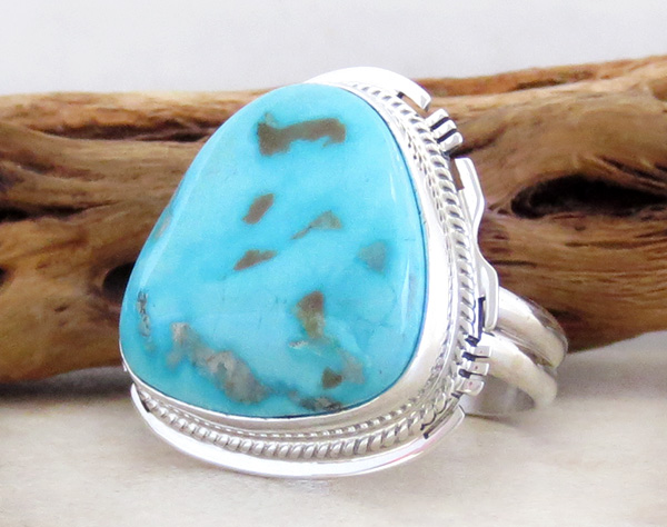 Image 2 of      Turquoise Mountain Turquoise & Sterling Silver Ring Size 10 - 3623sn