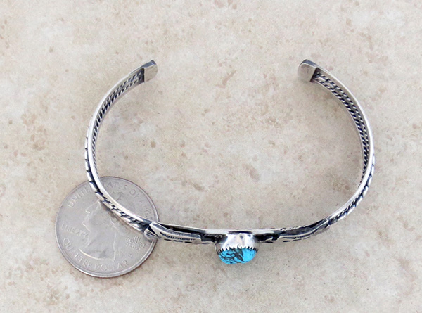 Image 4 of  Fred Harvey Style Turquoise & Sterling Silver Thunderbird Bracelet - 2085tag