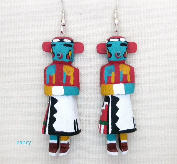 Morning Singer Kachina Earrings Navajo Made - 3812pl