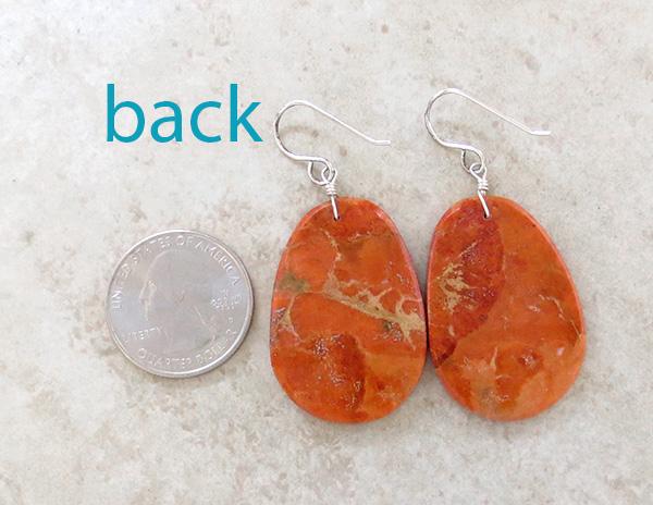 Image 2 of  Orange Apple Coral Earrings Santo Domingo Kewa - 1632rio