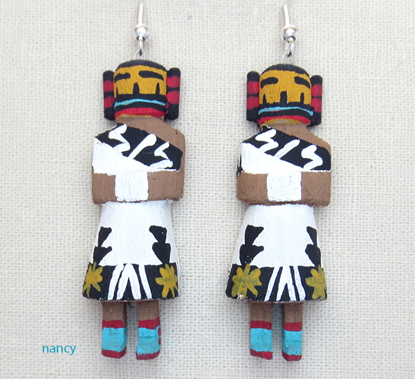 Harvest Girl Kachina Earrings Navajo Loretta Multine - 1784pl