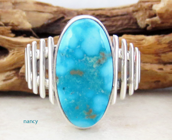 Turquoise Mountain Turquoise & Sterling Silver Ring Size 9 - 3295sn