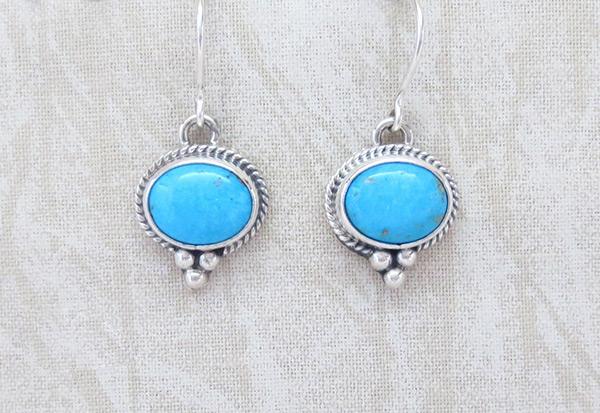 Image 0 of   Sleeping Beauty Turquoise & Sterling Silver Earrings Jewelry - 1734sn