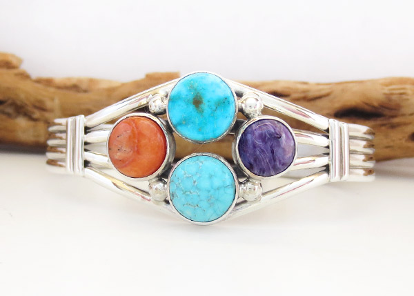 Turquoise & Sterling Silver Native American Jewelry - 2868sn