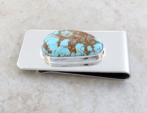 Image 1 of  Native American Boulder Turquoise Money Clip - 3751sn