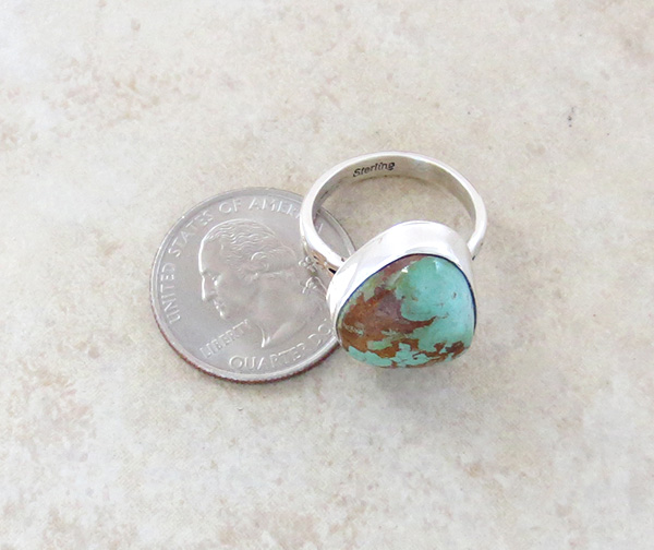 Image 3 of Boulder Turquoise & Sterling Silver Ring size 8 Native American Jewelry - 3308sn