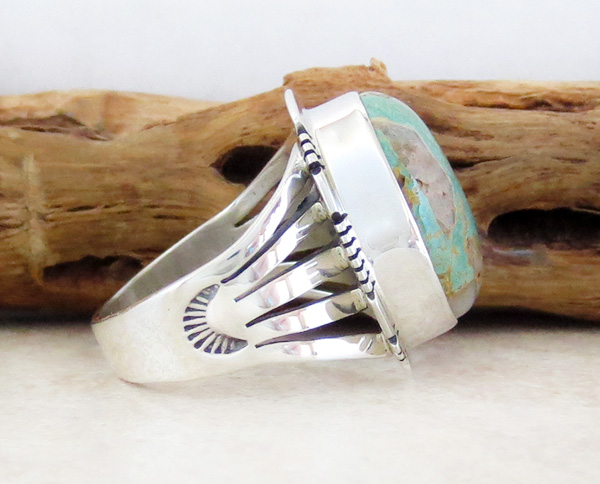 Image 1 of      Boulder Turquoise & Sterling Silver Ring Size 8 San Felipe - 3315sn