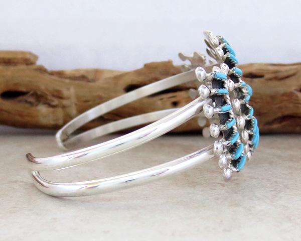 Image 2 of  Needlepoint Cluster Turquoise Bracelet Zuni Philander Gia - 3324rb