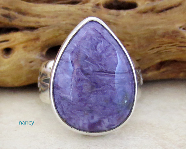 Charoite & Sterling Silver Ring Size 5.75 Freddy Charlie - 1306sn
