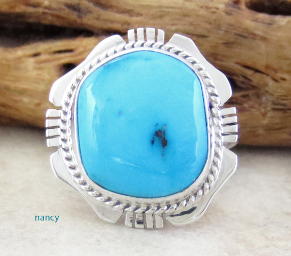 Small Sleeping Beauty Turquoise & Sterling Silver Ring size 6 - 1314sn