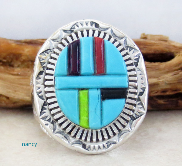 Large Heavy Turquoise Ring Size 10.75 *Special Buy* - 1316rb