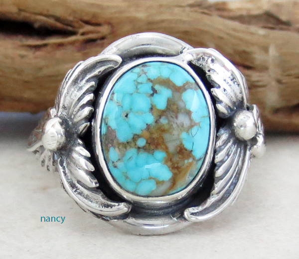 Image 0 of     Turquoise & Sterling Silver Ring Sz 12 Native American Jewelry- 1319sn