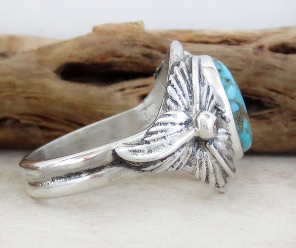 Image 1 of     Turquoise & Sterling Silver Ring Sz 12 Native American Jewelry- 1319sn