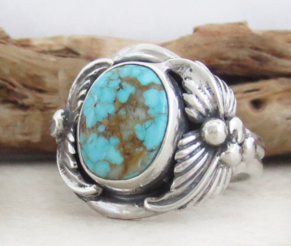 Image 2 of     Turquoise & Sterling Silver Ring Sz 12 Native American Jewelry- 1319sn