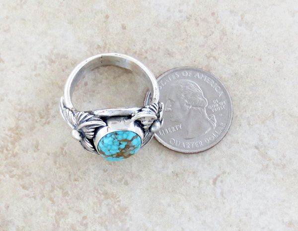 Image 3 of     Turquoise & Sterling Silver Ring Sz 12 Native American Jewelry- 1319sn