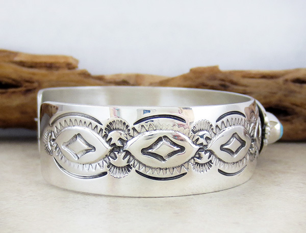 Image 2 of Turquoise & Sterling Silver Bracelet Native American Jewelry - 1539sn