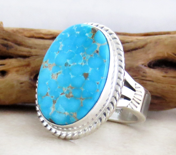 Image 2 of Turquoise & Sterling Silver Ring Size 10 Phillip Sanchez - 1419sn