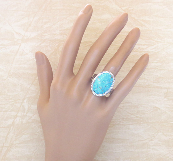 Image 4 of Turquoise & Sterling Silver Ring Size 10 Phillip Sanchez - 1419sn