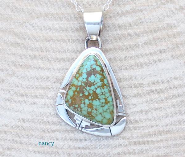 Boulder Turquoise & Sterling Silver Pendant Philip Sanchez - 3780sn