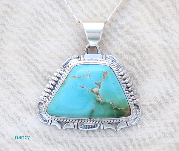 Royston Turquoise Sterling Silver Pendant Bennie Ration - 3648br