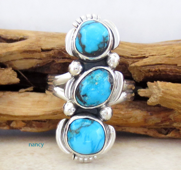 Candelaria Turquoise & Sterling Silver Ring Size 7 - 3657sn