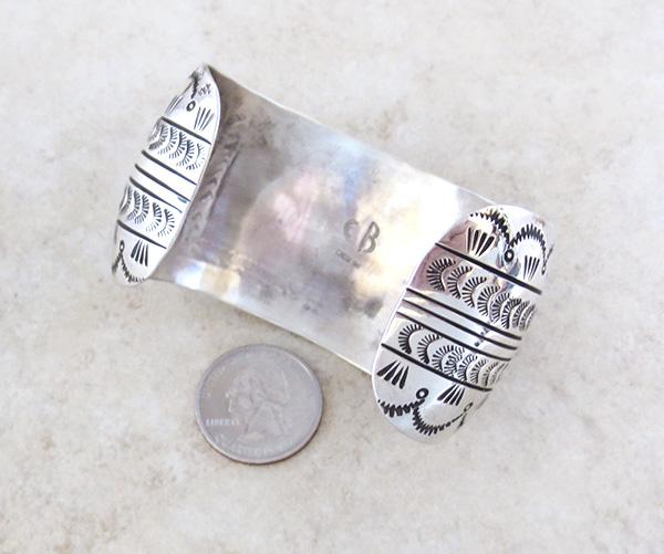 Image 4 of Carson Blackgoat Navajo Sterling Silver Running Horse Bracelet - 1038rb