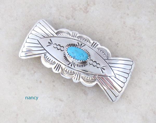 Handcrafted Sterling Silver Barrette Navajo Arlene Soce - 1461rb