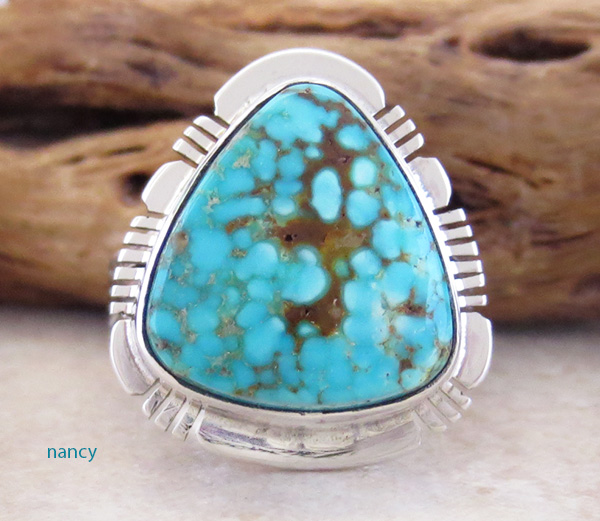 Turquoise & Sterling Silver Ring Size 6 Phillip Sanchez - 3902sn
