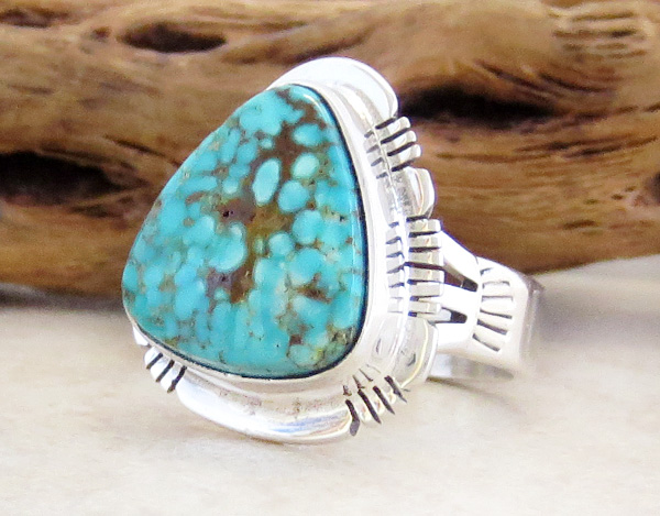 Image 2 of    Turquoise & Sterling Silver Ring Size 6 Phillip Sanchez - 3902sn